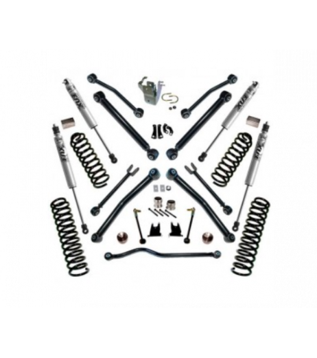 Superlift 4 inch Lift Kit - 2007-2018 Jeep Wrangler JK Unlimited - with REFLEX Control Arms and FOX Shocks